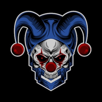 Schedel clown logo
