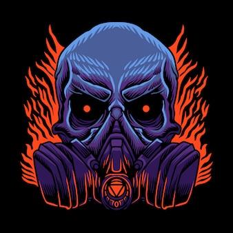 Schedel gasmasker logo