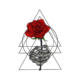 Schedel geeft rozen