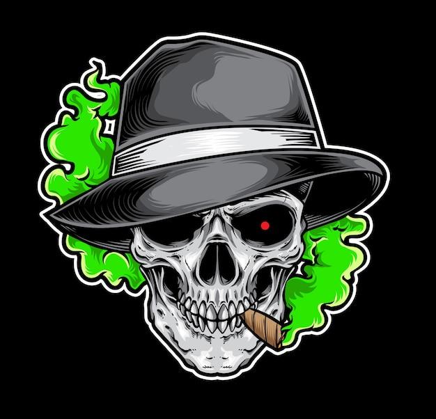 Schedel gerookte gangster