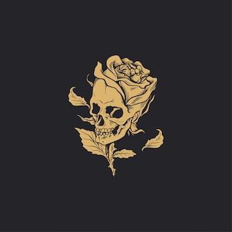 Schedel hoofd bloem