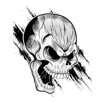 Schedel hoofd illustratie
