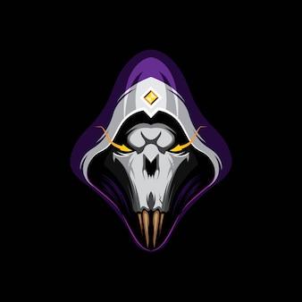 Schedel hoofd logo sjabloon