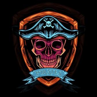 Schedel hoofd piraten
