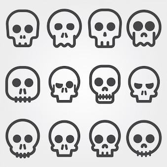 Schedel iconen collectie