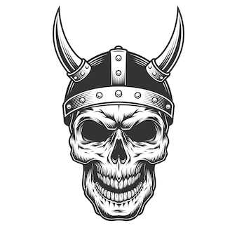 Schedel in de viking helm
