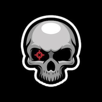 Schedel mascotte logo ontwerp