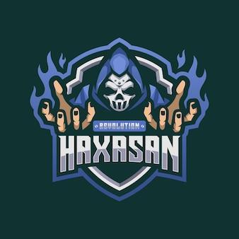 Schedel masker logo mascotte