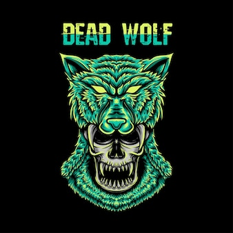 Schedel met wolfshoed