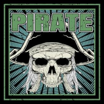 Schedel piraat hand tekenen