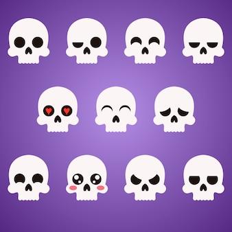 Schedel platte emoji