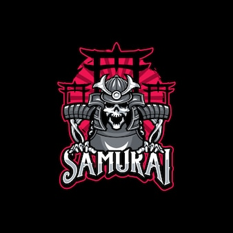 Schedel samurai logo sport