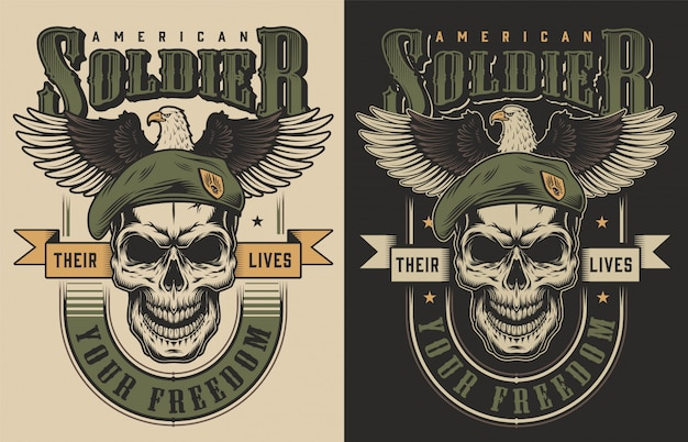 Schedel t-shirt print concept