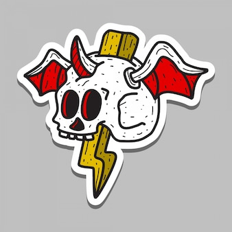Schedel tattoo sticker sjabloon
