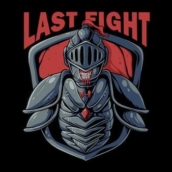 Schedel van ridder krijger illustratie