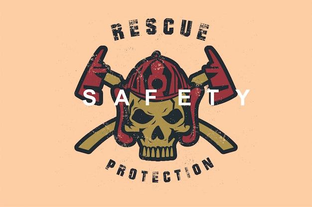 Schedel veiligheid redding