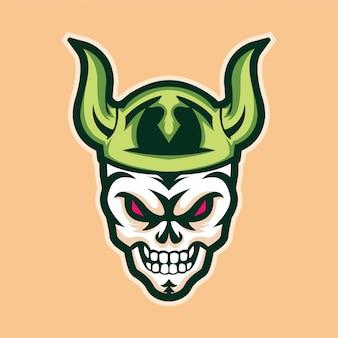 Schedel viking mascotte logo