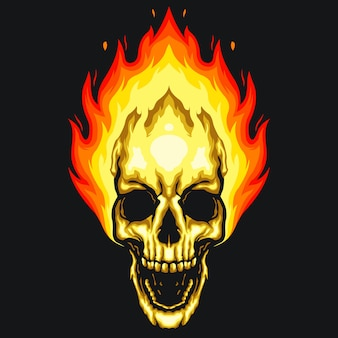 Schedel vuur illustratie