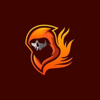 Schedel vuur logo