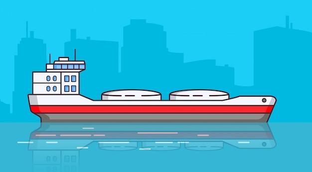 Scheepstanker, vrachtschip.