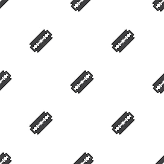 Scheermes, vector naadloos patroon, bewerkbaar kan worden gebruikt voor webpagina-achtergronden, opvulpatronen