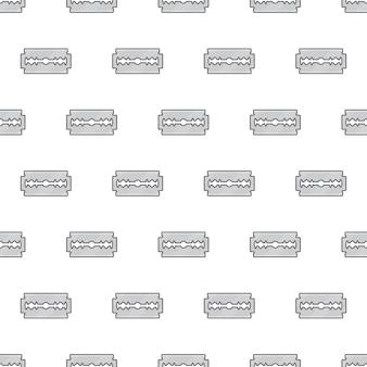 Scheermesje naadloos patroon op een witte achtergrond. blade razor thema vector illustratie