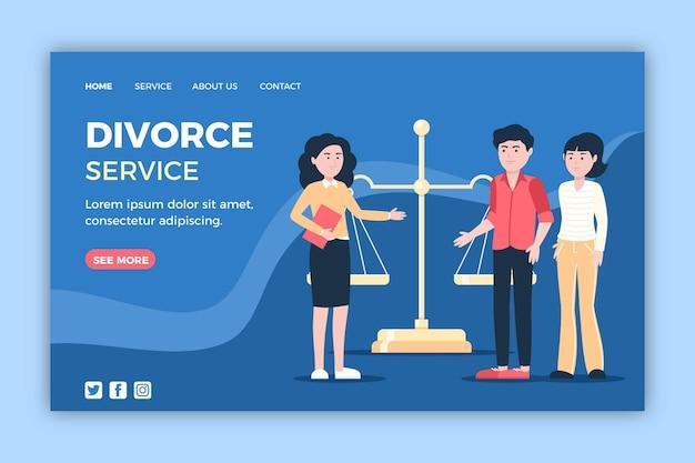 Scheiding advocaat service bestemmingspagina sjabloon