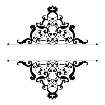 Scheidingswand of frame in kalligrafische retro-stijl