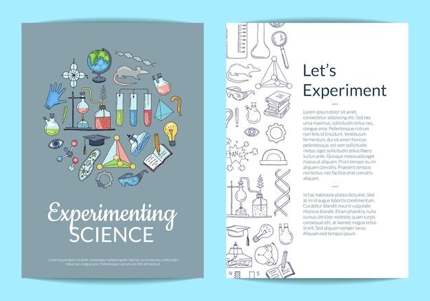 Scheikunde wetenschap folder sjabloon