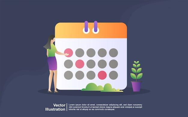 Schema en planningsconcept. persoonlijk studieplan maken. zakelijke tijdplanning