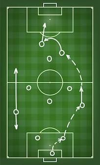 Schema voor voetbalwedstrijdtactieken. illustratie