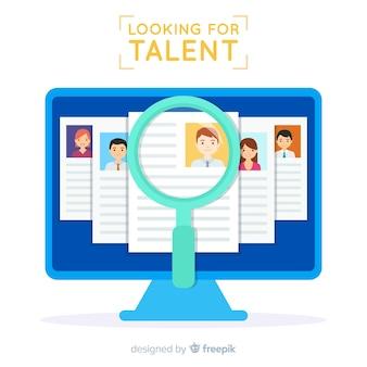 Scherm op zoek naar talent achtergrond