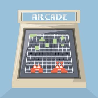 Scherm van arcade videogame machine-icoontje