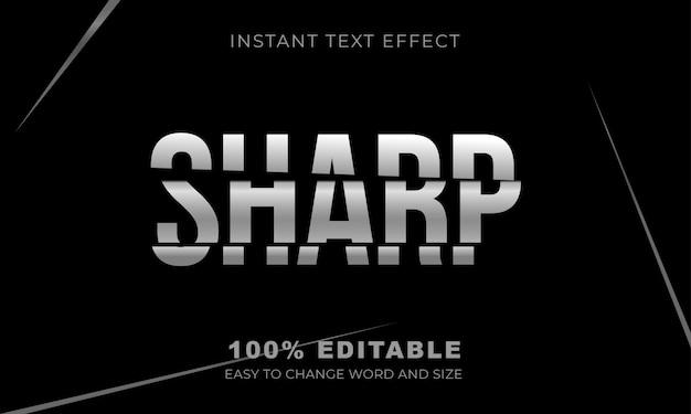 Scherp teksteffect