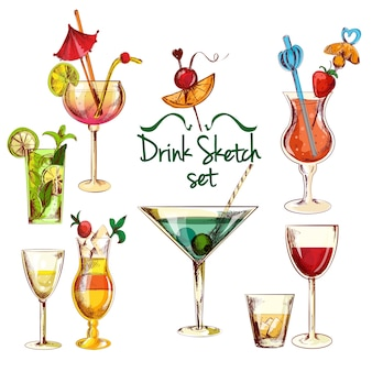 Schets cocktail set