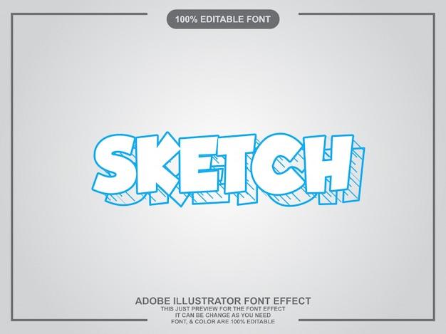 Schets grafische stijl illustrator bewerkbare typografie
