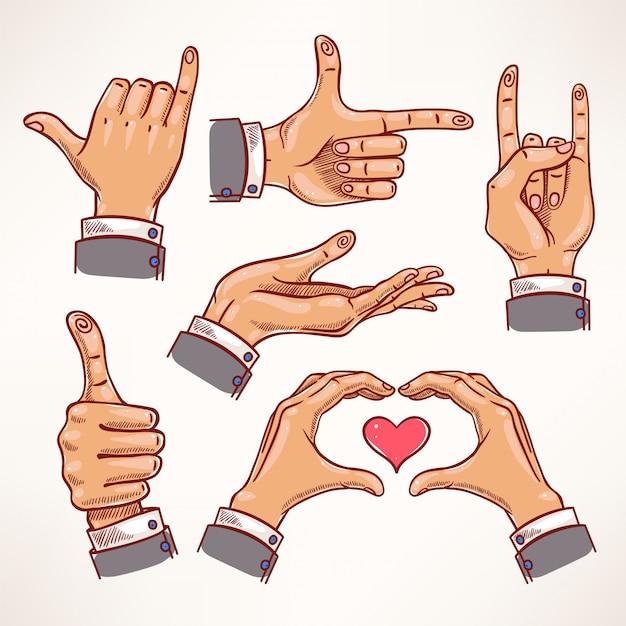 Schets handen