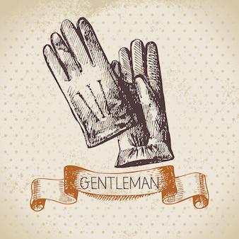 Schets heren accessoire. hand getekende mannen illustratie