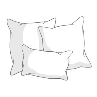 Schets illustratie van kussens