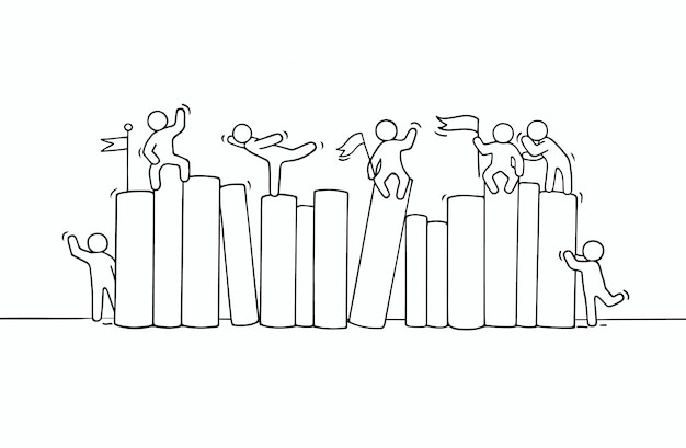Schets van het werken van kleine mensenboeken.