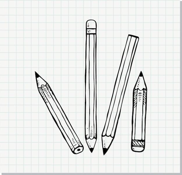 Schets van potlood in doodle stijl