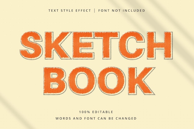 Schetsboek bewerkbaar teksteffect