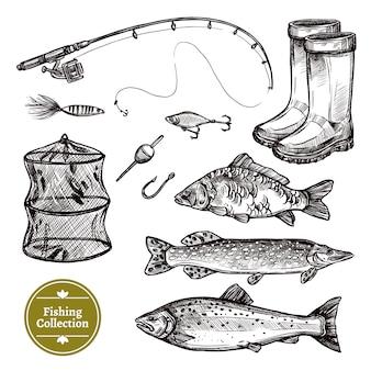 Schetsenset vissen