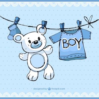 Schetsmatig baby boy elementen