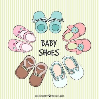 Schetsmatig babyschoenen