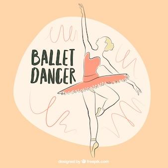 Schetsmatig ballerina