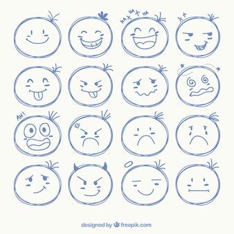 Schetsmatig gezicht iconen