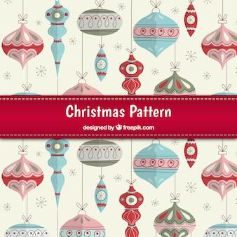 Schetsmatig kerstballen patroon
