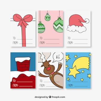 Schetsmatig kerstkaarten collectie