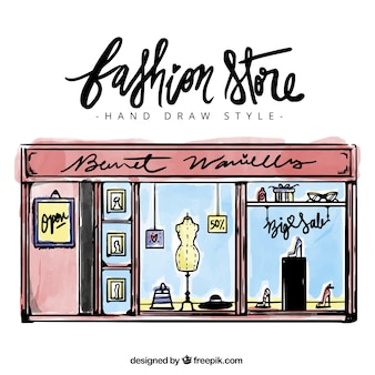 Schetsmatig modewinkel